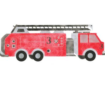 Large Firetruck Wall Stencil