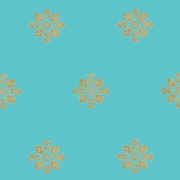 Gold Medallion Wallpaper