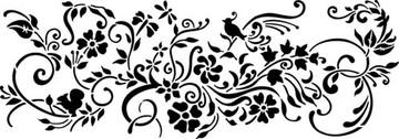 Nature's Vignette Wall Stencil