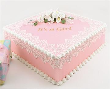 It's a Girl Cake Stencil