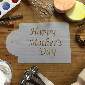 Happy Mother's Day Cake Stencil