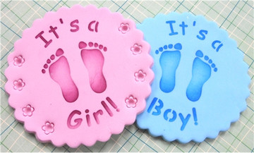 It's a Boy/Girl Cookie Top 3.5""