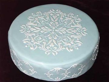 Medium French Medallion Cake Stencil