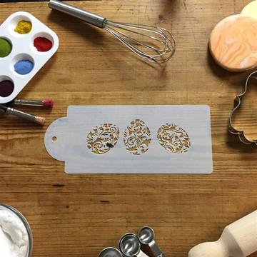Ornamental Eggs Cake Stencil