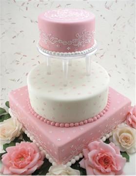 Wedding Veil Cake Stencil Side