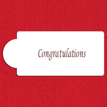 Congratulations Business Card Cake Stencil