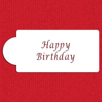 Happy Birthday Business Card Cake Stencil