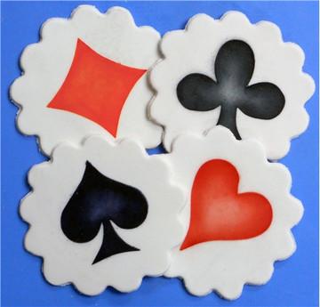 Card Suit Cookie Stencil Topper