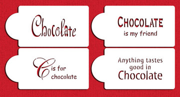 Chocolate Sayings Cake and Cookie Stencils