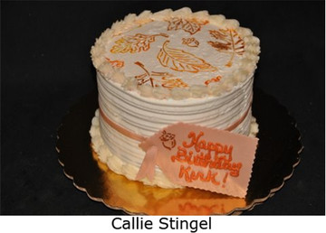 Fall Leaves Top Cake Stencil