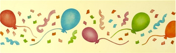Balloon Cake Stencil Side