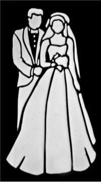 Bride and Groom Cake Stencil