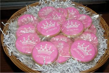 Princess Crown Cake Stencil