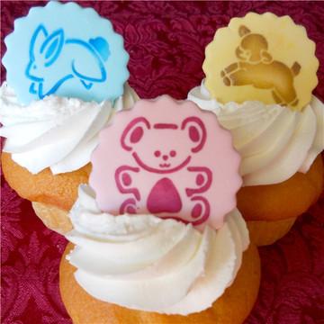 Baby Animals Cupcake Stencil