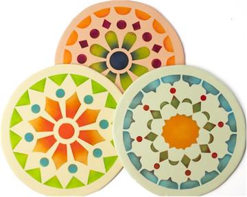 Kaleidoscope Patterns Cookie Stencils