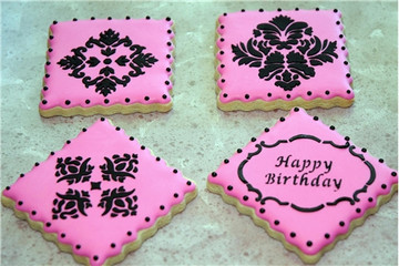 Four Point Rosettes Cake and Cookie Stencil