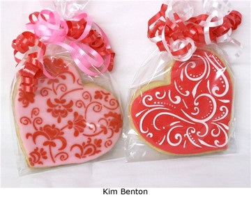 Contemporary Hearts Cookie Stencil