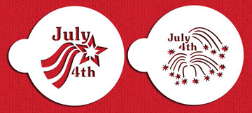 4th of July Cookie Stencil Set