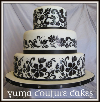 Floral Explosion Cake Stencil Tier #2