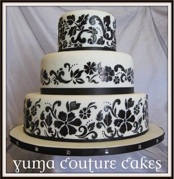 Floral Explosion Cake Stencil Tier #4