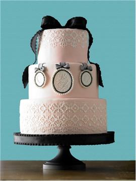 Victorian Crochet Tier #1 Cake Stencil