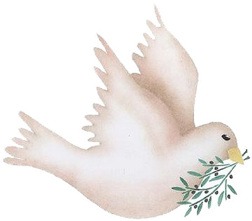Dove with Olive Twig Wall Stencil
