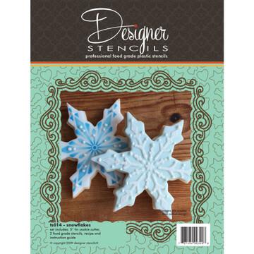 Snowflake Cookie Cutter & Stencil Set