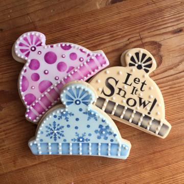 Winter Cap Cookie Cutter & Stencil Set