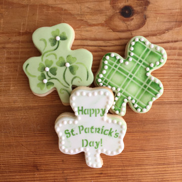 St. Patrick's Day Shamrock Cookie Cutter & Stencil Set