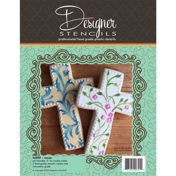 Cross Cookie Cutter & Stencil Set