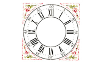 "Winterthur 12"" Multilayer Cross Hall Clock Face  Wall Stencil"