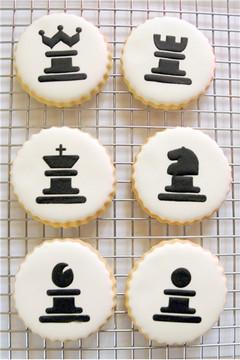 Chess Cookie Stencil Set