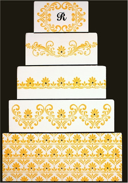 Fleur de Lis Cake Stencil Side #5