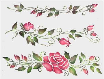 Rose Cake Stencil Set