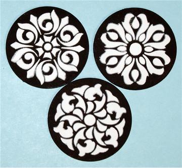Three Gem Pendants Cake Stencils