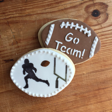 Football Cookie Cutter and Stencil Set