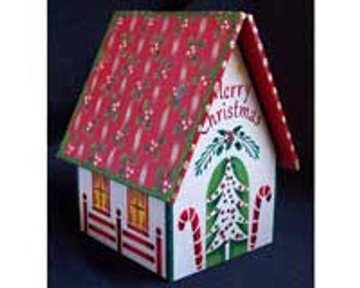 Wooden Gingerbread House - December