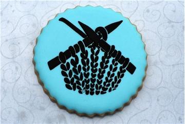 Knitting Cookie Stencil Set