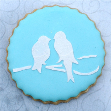 Love Birds Cookie Stencil Set
