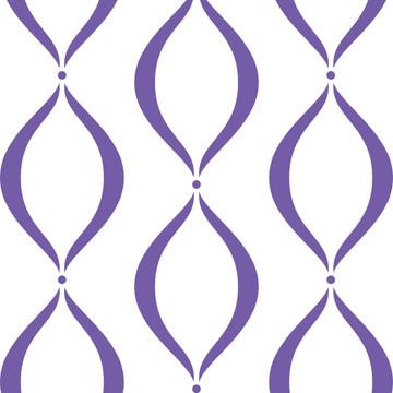 Lavender Scallop Wall Stencil