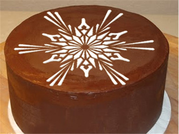 Large Crystal Snowflakes #2 Cake Stencil