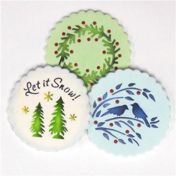 Let it Snow Cookie Stencil