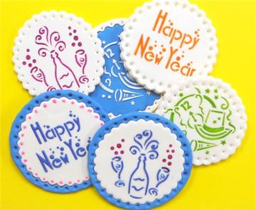 Happy New Year Cookie Stencil