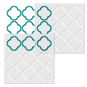 Quartrefoil Outline Wall Pattern Wall Stencil Repeat