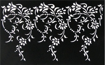 Large Vintage Lace Cake Stencil Side