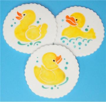 Rubber Duckies Cookie Set