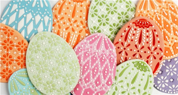 Faberge Easter Egg Cookie Stencils