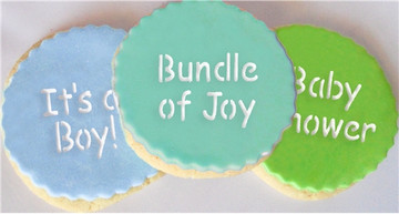Baby Lettering Cupcake Stencil Set