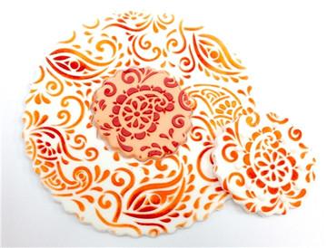 Paisley Henna Miniprint Cake Stencil