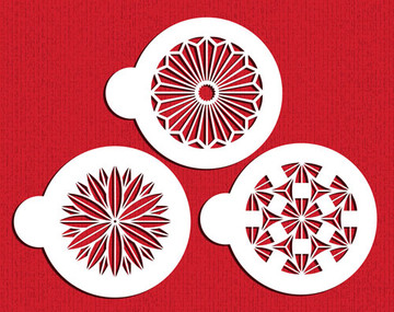 Retro Circle Cookie Stencil Set